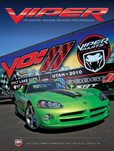 2010 Fall VIPER Magazine Cover Poster - VOI 11
