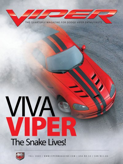 2009 Fall VIPER Magazine Cover Poster - VIVA VIPER Issue