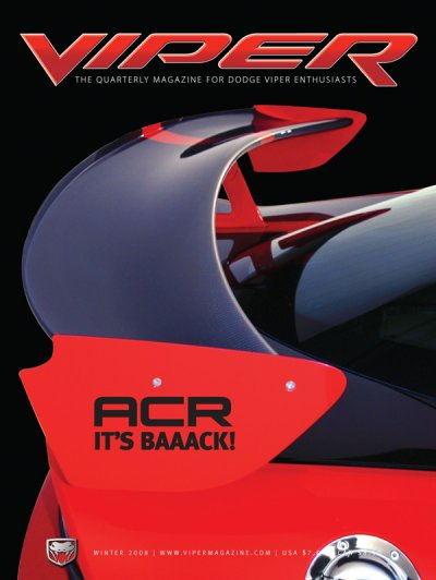2008 Winter VIPER Magazine Cover Poster - ACR - It's Back! Issue