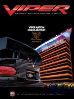 2008 Fall VIPER Magazine Cover Poster - Viper Nation Rocks Detroit VOI 10 Issue