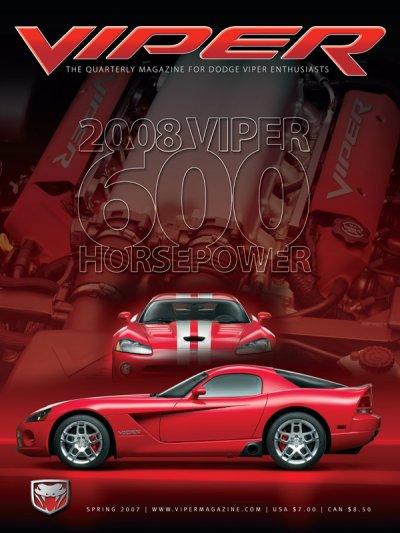2007 Spring VIPER Magazine Cover Poster - 2008 600 Horsepower Issue