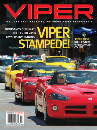 2005 Winter VIPER Magazine Cover Poster - Viper Stampede VOI 8 Issue