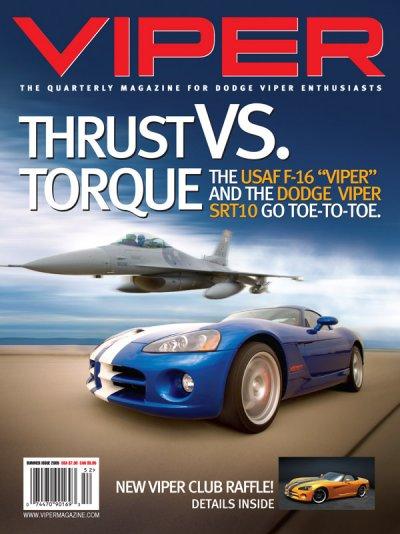 2005 Summer VIPER Magazine Cover Poster - Thrust vs. Torque USAF F-16 Issue