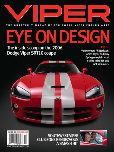 2005 Fall VIPER Magazine Cover Poster - Eye on Design Issue