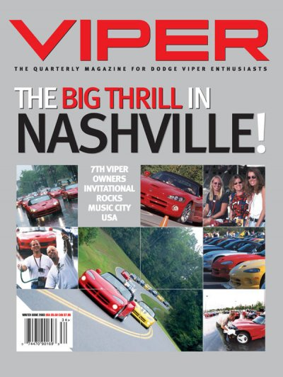 2003 Winter VIPER Magazine Cover Poster - The Big Thrill in Nashville VOI 7 Issue