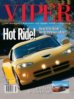 2002 Summer VIPER Magazine Cover Poster - Blazing Yellow GTS Hot Ride