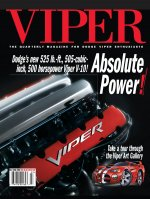 2002 Fall VIPER Magazine Cover Poster - Absolute Power: The New 500 Horsepower Viper V-10