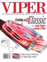 2001 Fall VIPER Magazine Cover Poster - Creating a New Classic: Inside Dodge's Redesign of Viper
