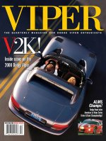 2000 Winter VIPER Magazine Cover Poster - V2K: Inside Scoop on the 2000 Dodge Viper