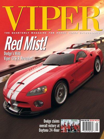 2000 Spring VIPER Magazine Cover Poster - Dodge's Wild Viper GTS/R Revealed!