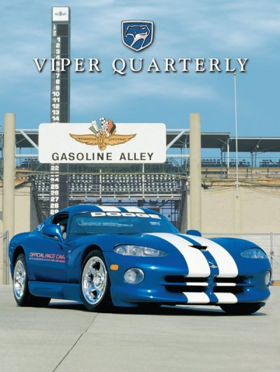 1995 Fall Viper Quarterly Cover Poster - Indy 500 GTS Pace Car