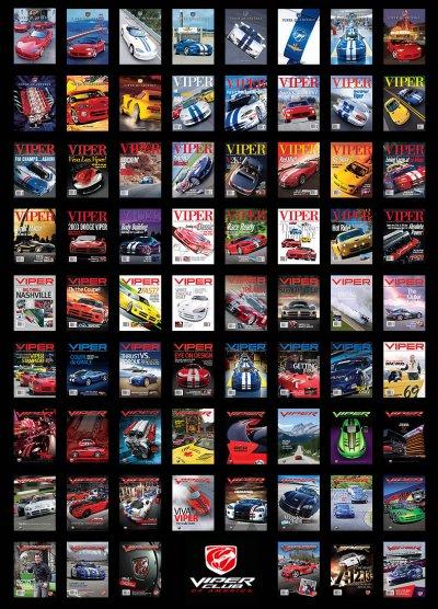 COMPLETE VIPER Magazine Poster Set: 1995 - 2012