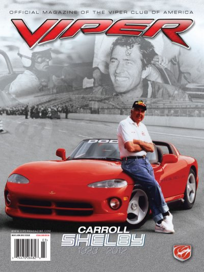 2012 May/Jun VIPER Magazine Cover Poster - Carroll Shelby