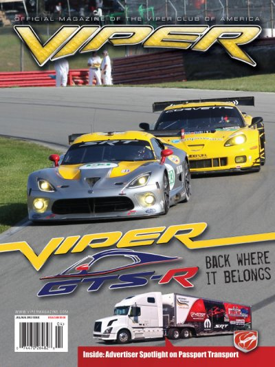 2012 July/Aug VIPER Magazine Cover Poster - ALMS Viper GTS-R