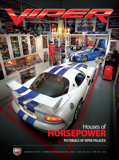 2009 Summer VIPER Magazine Cover Poster - Houses of Horsepower Issue