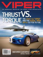 2005 Summer VIPER Magazine Cover Poster - Thrust vs. Torque USAF F-16 Issue