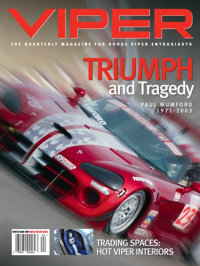 2004 Winter VIPER Magazine Cover Poster - Triumph and Tragedy - the Paul Mumford Issue