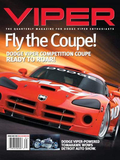 2003 Spring VIPER Magazine Cover Poster - Competition Coupe Ready to Roar Issue