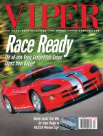 2002 Winter VIPER Magazine Cover Poster - All New Race Ready Competition Coupe