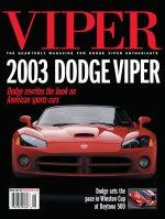 2001 Spring VIPER Magazine Cover Poster - 2003 Dodge Viper Rewrites the Book