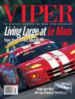 2000 Fall VIPER Magazine Cover Poster - Living Large at Le Mans: Viper #1 for 3rd Straight Year