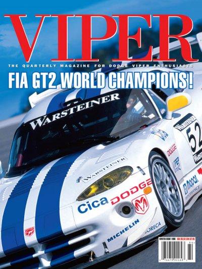 1998 Winter VIPER Magazine Cover Poster - FIA GT2 WORLD CHAMPIONS!