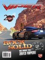 2012 Nov/Dec VIPER Magazine Cover Poster - 2013 SRT Viper GTS Test Drive
